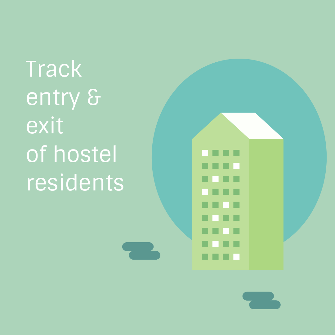 Manage Hostel Residents - Monitor their entry & exits