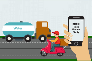 Water tanker monitoring & tracking